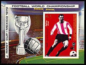 Yemen AR Michel Block 125, MNH imperf., World Cup Football, Beckenbauer