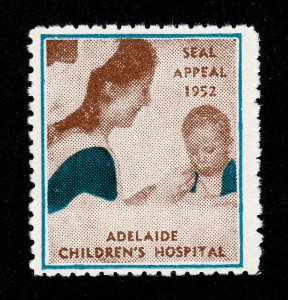 AUSTRALIA ADELAIDE CHILDREN'S HOSPITAL SEAL APPEAL CHARITY POSTER STAMP 1952