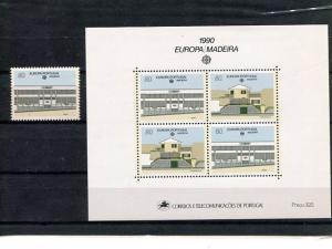 Portugal  madeira 1991  Europa mini sheet   Mint VF NH