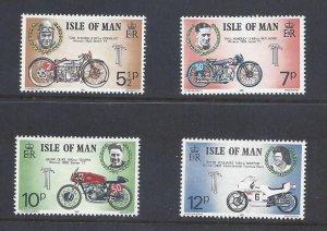 Isle Of Man MNH 66-9 Motor Bikes