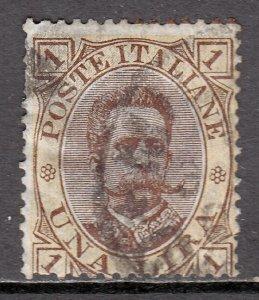 Italy - Scott #56 - Used - Toning, blue ink on reverse - SCV $24.00