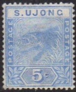 Sungei Ujong 1893 5c blue (tiger) MH