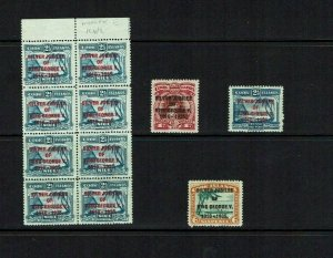 Cook Islands: 1935 King George V Silver Jubilee, Mint set + block with error.