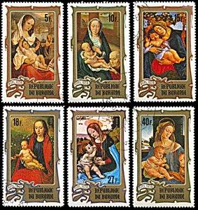Burundi 474-476,C213-C215, CTO, Christmas 1974 Paintings