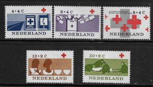 NETHERLANDS, B378-B382, MINT HINGED , FIRST AID