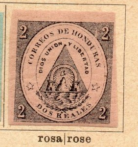 Honduras 1865 Early Issue Fine Mint Hinged 2r. NW-11865