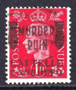 GREAT BRITAIN 1p MURDER RUIN CASTELLE CANDOLEO OVERPRINT USED F/VF SOUND
