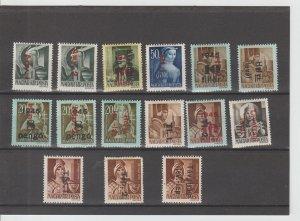Hungary  Scott#  801-815  MH  (1946 Overprinted)