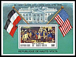 Upper Volta 367A, MNH, USA Bicentennial Yorktown Surrender souvenir sheet