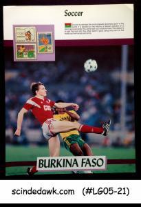 UPPER VOLTA - 1988 OLYMPIC GAMES SOCCER - 3V PANEL MNH