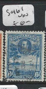 SIERRA  LEONE (PP3105B)  KGV  6D  SG 161   VFU