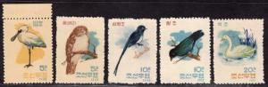 $Korea Sc#406-10 M/NH/VF, birds, Cv. $38
