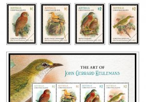 COLOR PRINTED CHRISTMAS ISLAND 2011-2020 STAMP ALBUM PAGES (55 illustr. pages)