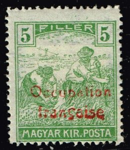 HUNGARY STAMP Arad 1919 Hungary Postage Stamps Ovpt Occupation francaise  5f MH