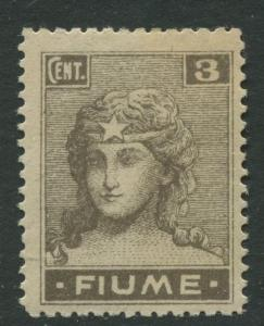 Fiume - Scott 28 - Definitive Issue -1919 - MLH - Single 3c Stamp