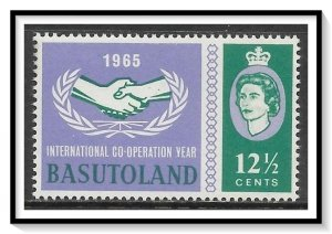 Basutoland #104 Cooperation Year MNH