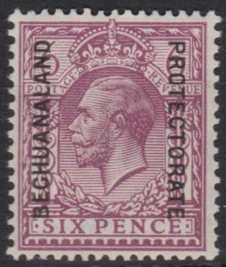 d112) Bechuanaland Prot. 1924/27. MM  SG 96 6d Reddish-purple Royalty. c£75+