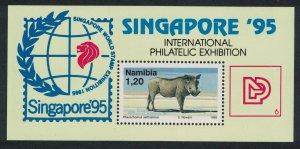 Namibia Warthog Wild boar 'Singapore 95' MS SG#MS675 MI#Block 23