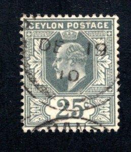 Ceylon #187,  F/VF, Used, CV $3.00 ....  1290153