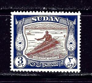 Sudan 106 MLH 1951 Ambatch Canoe