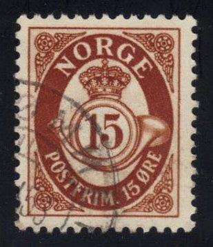 Norway #325 Post Horn, used (0.25)