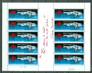 FRENCH  SOUTH ANTARCTIC #C77 UNFOLDED SHEET of 10...MNH...$100.00