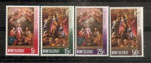 Montserrat  208-11 MNH 1968 Christmas