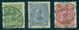NORWAY #64-6 King Haakon set used VF/XF Scott $255.00