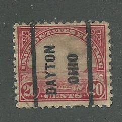 1923 USA Dayton, Ohio  Precancel on Scott Catalog Number 567