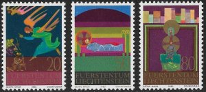 LIECHTENSTEIN 1980 CHRISTMAS Set Sc 701-703 MNH