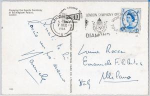 GB -  POSTAL HISTORY -  POSTCARD with nice postmark - MUSIC / DIAMOND 1964