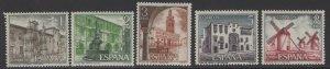 SPAIN SG2187/91 1973 TOURIST SERIES MNH