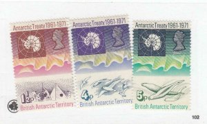 BR. ANTARCTIC TERR. (MK6532,A) # 39-41 VF-MLH/ #59-USED ANTARCTIC TREATY+ CV $34