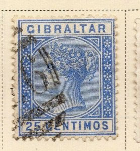 Gibraltar 1889 Early Issue Fine Used 25c. 326909