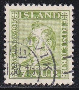 Iceland # 197, Matthias Jochumsson, Used
