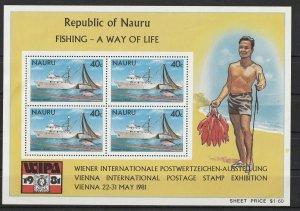 Nauru Mint S/S 230a Fishing 1981