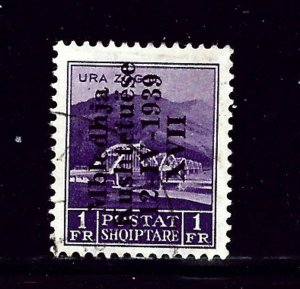 Albania 306 Used 1939 overprint   (P75)