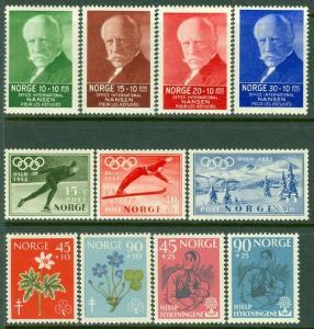 EDW1949SELL : NORWAY Scott #B5//65. 4 Better VF, Mint OG Cplt sets. Cat $88.50.