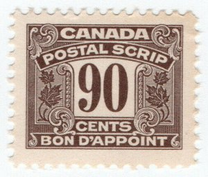 (I.B) Canada Revenue : Postal Note 90c