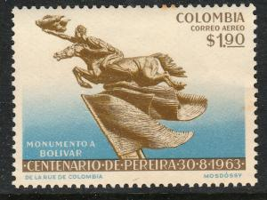 COLOMBIA C453, CENTENARY OF THE CITY OF PEREIRA. MNH. (271)