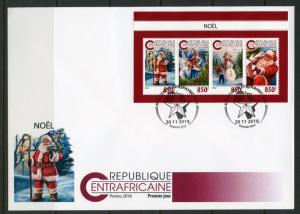 CENTRAL AFRICA 2018 CHRISTMAS SHEET FIRST DAY COVER