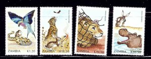 Zambia 523-26 MNH 1991 World Literacy Year    (ap1085)