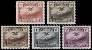 Ecuador Scott C51-C52, C54-C56 (1937) Mint LH VF, CV $58.50 B