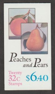 U.S. Scott #2488a BK178 Peaches and Pears Stamp - Mint NH Booklet