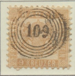 Baden (German State) Stamp Scott #23a, Used - Free U.S. Shipping, Free Worldw...