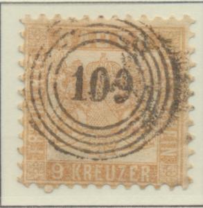Baden (German State) Stamp Scott #23a, Used - Free U.S. Shipping, Free Worldw...