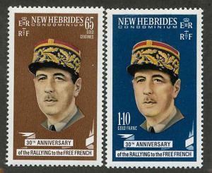 New Hebrides British 139-140 Mint VF NH