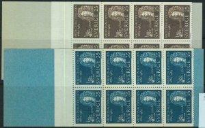 91448 - SWEDEN - STAMPS:  2 Booklets Mi # 508/09 1963 The Medical Board MEDICINE
