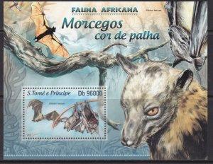 Sao Tome and Principe, Fauna, Animals, Bats / MNH / 2013