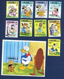 ANGUILLA - # 434-443 - VFMNH set & S/S - Easter 1981